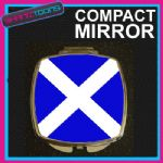 SCOTLAND SCOTTISH FLAG COMPACT LADIES METAL HANDBAG GIFT MIRROR